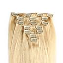 Isječak u kosu ekstenzije smeđe mješoviti plavuša 20-24 inča 100g
