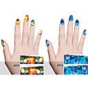 6pcs Nail Art samolepka Voda na přestupy Nálepky make-up Kosmetické Nail Art design