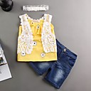 Djevojčice Poliester Print Ležerno/za svaki dan Ljeto Bez rukava Setovi Komplet odjeće