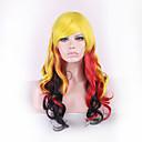 原宿オンブルかつらpelucas peloカーリー自然耐熱アニメのコスプレウィッグperruque合成かつらの女性のヘアスタイル