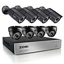 zosi®hd 720p 8-kanalni CCTV sustava DVR 8pcs 1200tvl ir vremenske uvjete vanjski video sustav sigurnosnih kamera