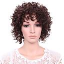 kratke afro kovrčava val Boja kose kestenjaste sintetička perika za žene