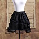 Sukně Gothic Lolita Lolita Cosplay Lolita šaty Černá Jednobarevné Lolita Short Length Sukně Pro Bavlna