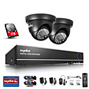 sannce® 1.0mp 720p 4ch hd 4 in1 tvi H.264 DVR ve složce / system venkovní CCTV bezpečnostní kamery vestavěným 1TB HDD