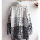 Ženske Jednostavno Ležerno/za svaki dan Regularna Pullover,Jednobojni Na vezanje oko vrata Dugih rukava Pamuk Jesen Zima Mikroelastično