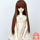 kutilství dlouhé rovné hnědé kaštanové barvy na vlasy paruky 1/3 1/4 BJD SD dz MSD panenka paruky příslušenství, které není pro dospělého