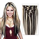 světle hnědé / blondýna prodlužování vlasů # 8 / 613-100% Remy prodlužování vlasů - Remy klip v prodlužování vlasů