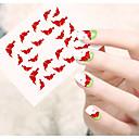 1 Nail Art naljepnica Prijenos vode Decals 3D Nail Naljepnice Crtani film Cvijet Lijep šminka Kozmetički Nail art dizajn