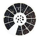 600pcs mixs 11-styl černé kamínky nail art dekorace