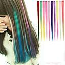 1クリップ使用可能な10色の髪の拡張子で長い合成ストレートとクリップ