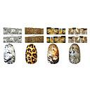 1x10PCS Animal Leopard Skin Sery Full-Cover nehty Samolepky (Různé vzory)