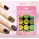 Nový nail art duté samolepky barevné květinové geometrické obrázek designu nail art krása y011-020