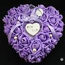 心臓の形状は、結婚式のための花真珠のリングボックス枕(26 * 26 *の13センチメートル)孔雀の結婚式をバラ