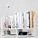 Moderna White Water Cube Pattern Desktop Polica za knjige