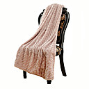 超柔らかい ピンク,純色 花/植物 ポリエステル/ポリアミド 毛布 W130×150cm(W50×60in)