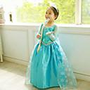 Dívka je Žakár Celoročně Šaty Směs bavlny / Síťovina Modrá