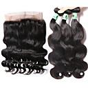 Vlasy Útek se zapínáním Malajské vlasy Vlnité 4 kusy Vazby na vlasy
