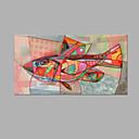 Ručně malované Abstraktní Horizontální,umělecké Jeden panel Plátno Hang-malované olejomalba For Home dekorace