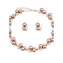 Žene Komplet nakita Svadbeni nakit Setovi Igazgyöngy nyaklánc Imitacija Pearl Umjetno drago kamenje Moda Euramerican KlasikaImitacija