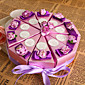 ljubičasta cvijeta tortu korist box (set od 10)