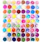 72 barev, lesklé barvy, zdobení na nehty