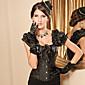 Crna brokat Uzorak Gothic Lolita ispružena Korzet