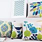 set od 4 moderno lijepih elegantnih ptica i biljaka ukrasni jastuk pokriva