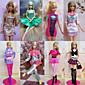 Princess Kostýmy Pro Barbie Doll Růžová Šaty Pro Dívka je Doll Toy