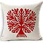 Crvena stabla bež pamuk / Posteljina dekorativne jastučnicu