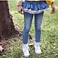 i jeans della ragazza dei jeans dei bambini di lavaggio pantaloni pizzo cucitura