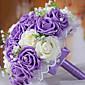 buket od 30 pe simulacija ruža vjenčanje buket vjenčanja mladenka drži cvijeće, ljubičasta i bijela