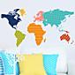 ウォールステッカーウォールステッカー、世界地図PVCウォールステッカー