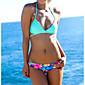 Ženski Bikini - Bandeau grudnjak - Push-up - S cvjetnim printom - Najlon