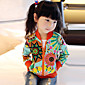 Girl's Cotton/Polyester Leisure Floral Long Sleeve Jacket & Coat