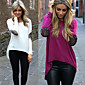 DONNE - T-shirt - Informale Rotondo - Maniche lunghe Misto cotone