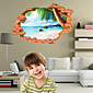 3D Wall Stickers Wall Decals Style Beach Fashion Creative Personality PVC Wall Stickers