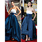 TS Couture Military Ball / Formal Evening Dress - Multi-color Plus Sizes / Petite A-line / Princess Strapless Asymmetrical Satin