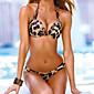 Ženski Bikini - Grudnjak s tankim naramenicama - Grudnjak sa žicom - S cvjetnim printom / Sa životinjama - Najlon / Poliester