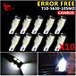 10x CANbus klín T10 bílá 192 168 194 W5W 10 5630 SMD LED světlo chyba žárovka svítilny zdarma 12v