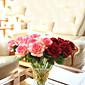 Umělé květiny červená růže vášeň kytice květin umělé hedvábí květin 1ks / set