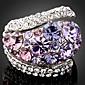Prstenje Moda Party Jewelry Umjetno drago kamenje / Platinum Plated Žene Prstenje sa stavom 1pc,Univerzalna veličina Plava / Ljubičasta