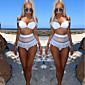 Ženski Bikini-Bandeau grudnjak-Podstavljeni grudnjak-Jednobojni-Čipka