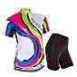 NUCKILY® Biciklistička majica s kratkim hlačama Žene Kratki rukav BiciklVodootpornost / Prozračnost / Otporno na kišu / Anti-zračenje /