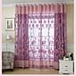 Jedna ploča Zemlja Cvjetni / Botanički Kao po slici Living Room Polyester Sheer Zavjese Shades