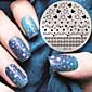 2016 najnoviju verziju modni uzorak zvijezda nail art štancanje slika predložak pločice