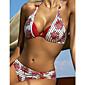 Ženski Bikini-Bandeau grudnjak-Podstavljeni grudnjak-S cvjetnim printom-Poliester