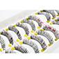 10Pair 睫毛 まつ毛 フルタイプつけまつげ 目 / まつ毛 クロスタイプ / 厚型 延長 / 濃密 手作り 繊維 Black Band 0.10mm 11mm