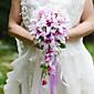 YuXiYing  Elegant Cascade  Shape  Lily Bridal Wedding Bouquet