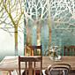 sjajnom kožom efekt veliki mural pozadina crtani drveće si zidni dekor tapete