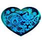 bluezoo love blue nail art ražby (14)